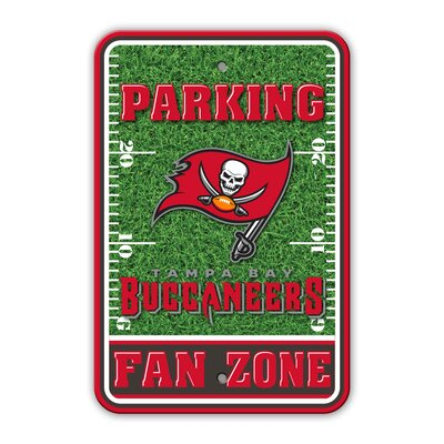 NFL Plastic Fan Zone Parking Sign NFL Team: Tampa Baby Buccaneers