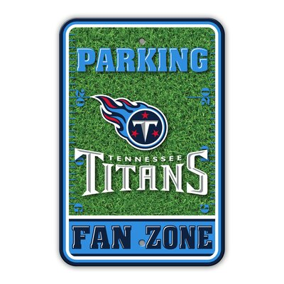 NFL Plastic Fan Zone Parking Sign NFL Team: Tennessee Titans