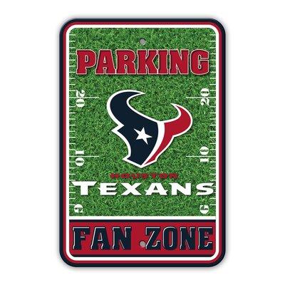 NFL Plastic Fan Zone Parking Sign NFL Team: Houston Texans