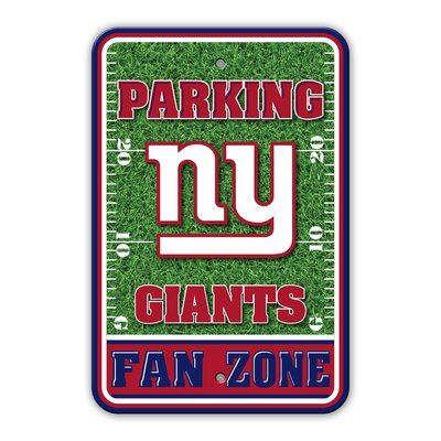 NFL Plastic Fan Zone Parking Sign NFL Team: New York Giants