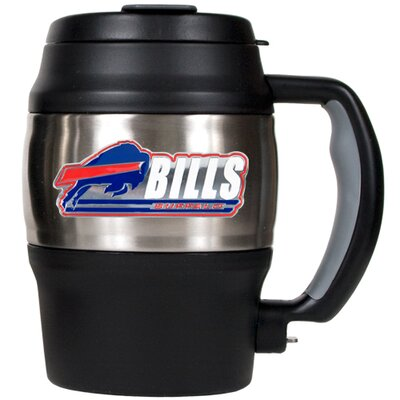 NFL 20 oz. Stainless Steel Travel Tumbler NFL Team: Buffalo Bills 75423
