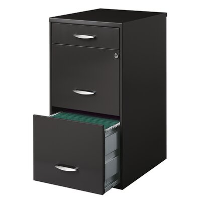 Hogge Office Designs 3-Drawer Vertical File Cabinet Color: Gray 4DC7ED7D0A45461B881EEC5FB365159F