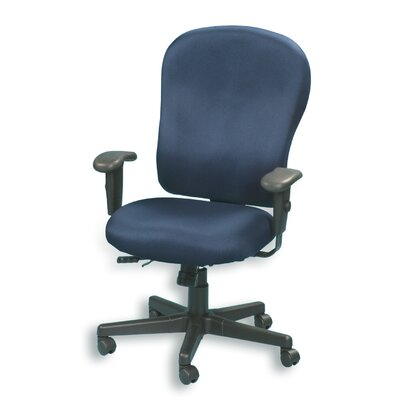 High-Back Chair with Arms Color: Navy Product Photo 574
