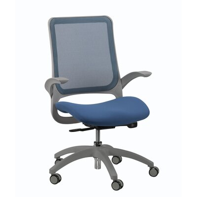 Mesh Office Chair with Arms Color: Blue Product Photo 538