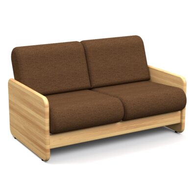 Butcher Block Loveseat Upholstery Color: Shire Espresso HRH1493 30199987