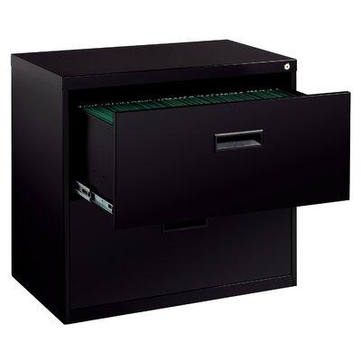 CommClad Soho 2-Drawer File Cabinet - Finish: Black