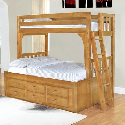 Discovery World Furniture Convertible Twin over Full Six Drawer Bunk Bed - Finish: Honey at Sears.com