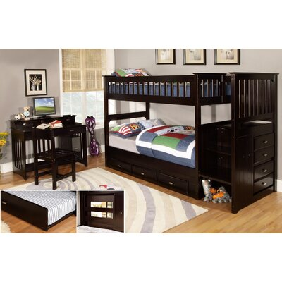 Discovery World Furniture Staircase Twin / Twin Bunk Bed (2 Pieces) at Sears.com