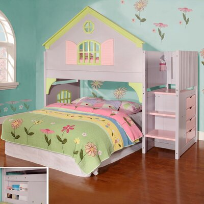 Dollhouse  Loft Twin Bunk Bed