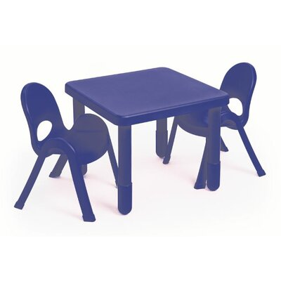 MyValue Set 2 Kids Square Writing Table Set AB715202PB