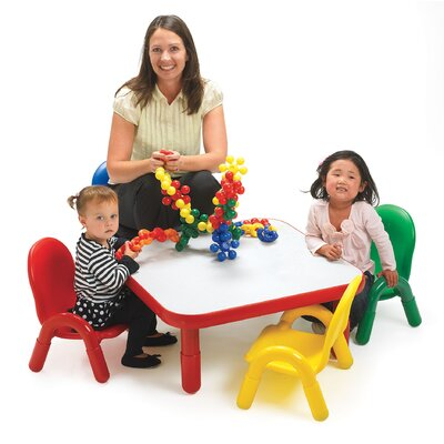 Angeles BaseLine Toddler Table and Chair Set - Trim Color: Canary Yellow
