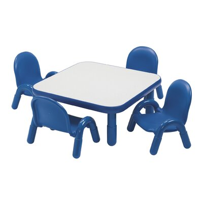 Angeles BaseLine Toddler Table and Chair Set - Trim Color: Royal Blue