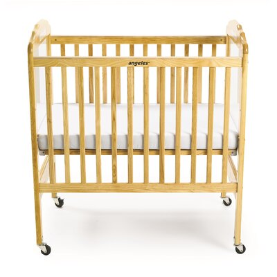 Adjustable Fixed-Side Crib Finish: Natural/ Clear Panel AEL7010M