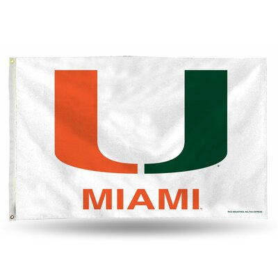NCAA Banner Flag NCAA Team: Miami Hurricanes FGB100301