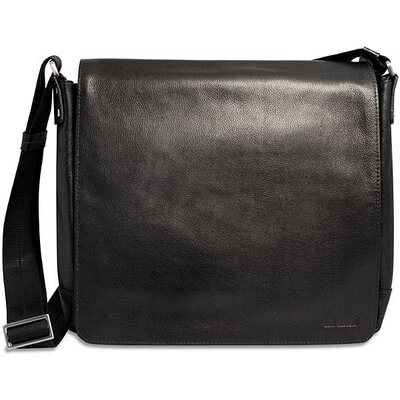 Soho Slim Messenger Bag in Black