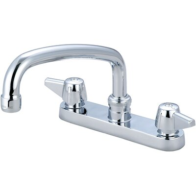 Double Handle Centerset Kitchen Faucet with 6 Centers