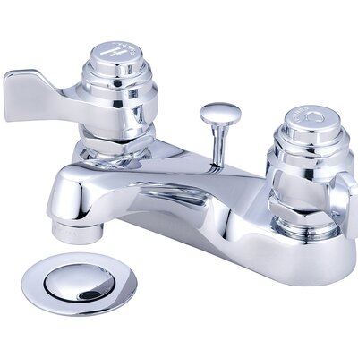 Centerset Lever Handle Bathroom Faucet with Drain Assembly