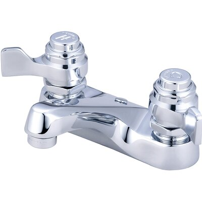 Double Handle Centerset Standard Bathroom Faucet
