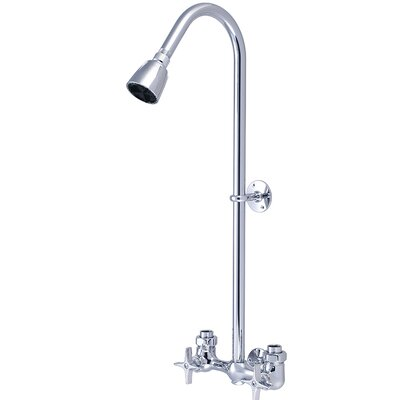 Double 4 Arm Handles Exposed Shower Faucet