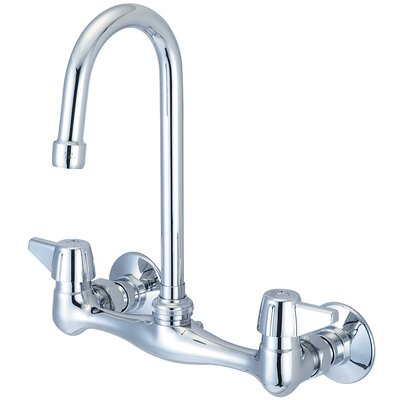 Double Handle Wall Mounted Standard Kitchen Faucet