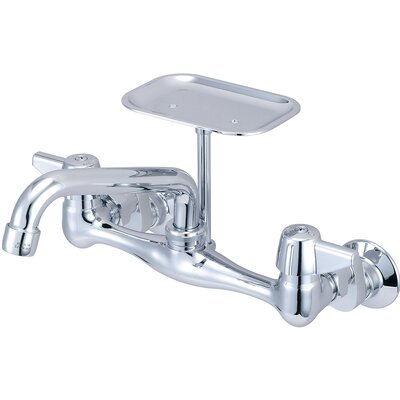 Double Handle Kitchen Faucet with Soap Dish