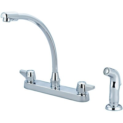 Centerset Double Handle Standard Kitchen Faucet with Side Spray