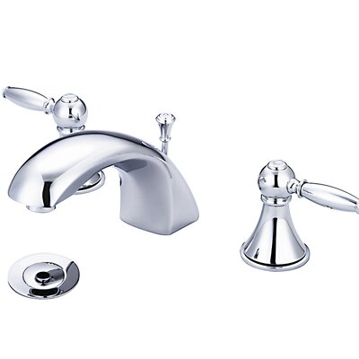 Double Handle Widespread Bathroom Faucet With Drain Assembly
