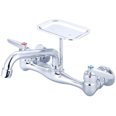 Double Handle Kitchen Faucet with Soap Holder NPT Thread: Female