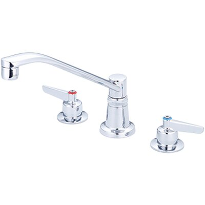 Concealed Ledge Double Handle Kitchen Faucet Side Spray: Without Side Spray