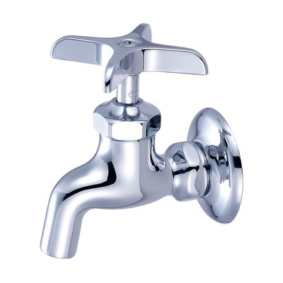 Wall Mounted Sink Faucet with Single Cross Handle