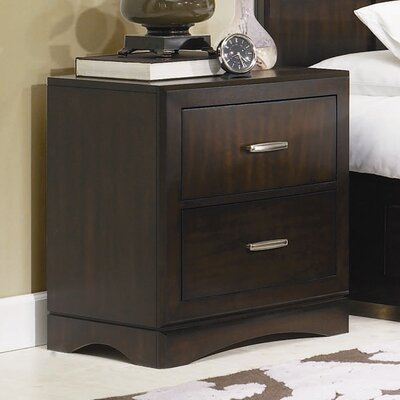 Key West 2 Drawer Nightstand