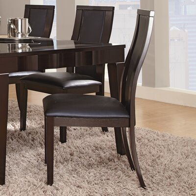 Easy financing Delano Side Chair Color: Black...