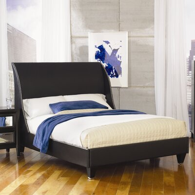 Najarian Furniture Reflections Wingback Bed - Size: California King, Finish: Ebony at Sears.com