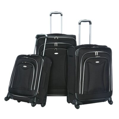 Luxe 3 Piece Luggage Set Color Black image