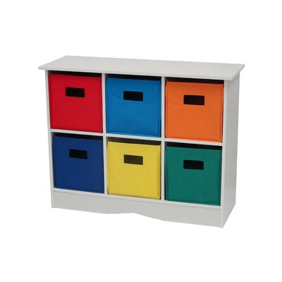 RiverRidge Home Products 6 Bin Storage Cabinet - Color: Bright Bins, Finish: White at Sears.com