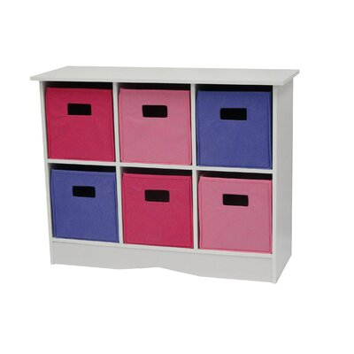 RiverRidge Home Products 6 Bin Storage Cabinet - Color: Pastel Bins, Finish: White at Sears.com