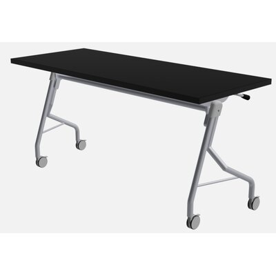 48 W Medley Flip Top Training Table with Wheels Finish: Black, Size: 29 H x 72 W x 24 D