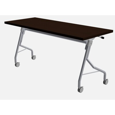 48 W Medley Flip Top Training Table with Wheels Finish: Washington Cherry, Size: 29 H x 48 W x 24 D