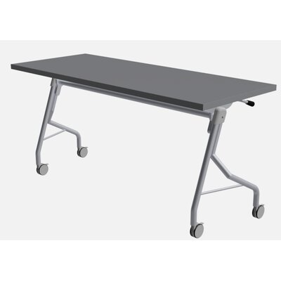 48 W Medley Flip Top Training Table with Wheels Finish: Shaker Gray, Size: 29 H x 72 W x 24 D