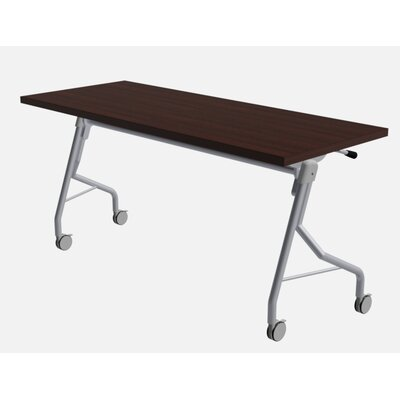 48 W Medley Flip Top Training Table with Wheels Finish: Classic Mahogany, Size: 29 H x 72 W x 24 D