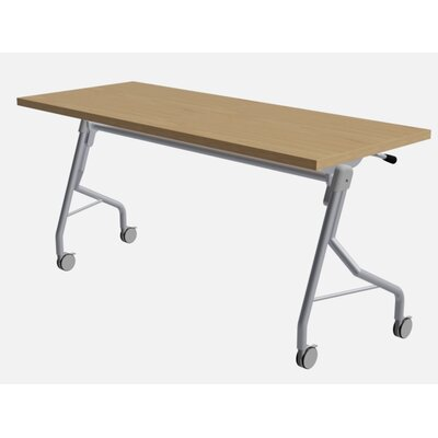 48 W Medley Flip Top Training Table with Wheels Finish: Sugar Maple, Size: 29 H x 72 W x 24 D