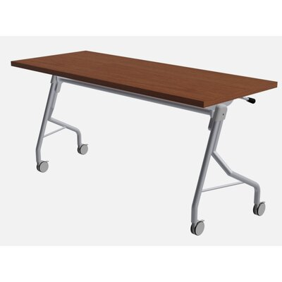 48 W Medley Flip Top Training Table with Wheels Finish: Rainier Cherry, Size: 29 H x 48 W x 24 D