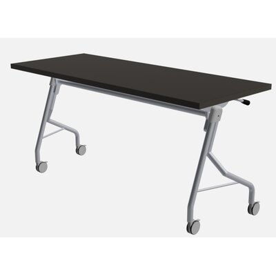 48 W Medley Flip Top Training Table with Wheels Finish: Graphite, Size: 29 H x 72 W x 24 D
