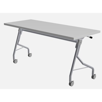 48 W Medley Flip Top Training Table with Wheels Finish: Designer White, Size: 29 H x 72 W x 24 D