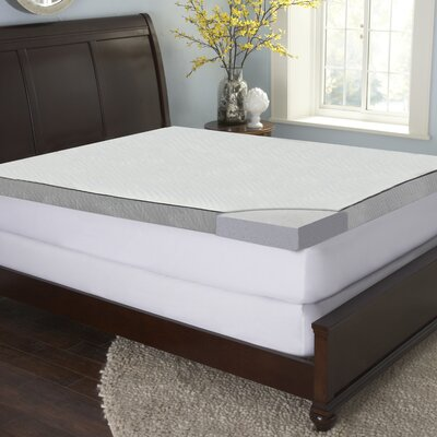 Ellen 3-inch Gel Enriched Mattress Topper Size: King
