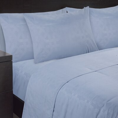 Embossed Sheet Set Size: Queen, Color: Cashmere Blue