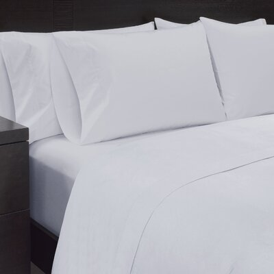 Solid Sheet Set Size: King, Color: White