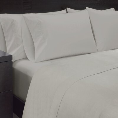 Solid Sheet Set Size: King, Color: High Rise