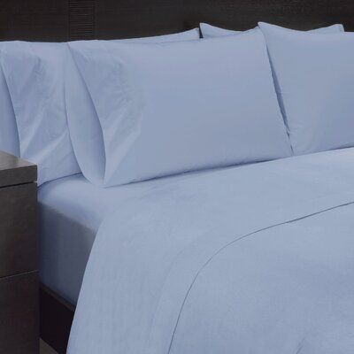 Solid Sheet Set Size: California King, Color: Cashmere Blue