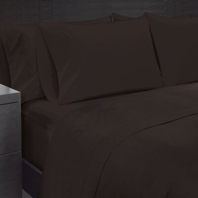 Solid Sheet Set Size: Twin, Color: Demitasse